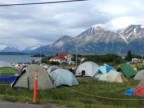 "There is the place for campers and RVs, then there's the ""Tent City"" with a fabulous view!"