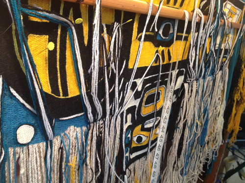 "Many, many braids in weaving ""Resilience"" Chilkat robe by Clarissa Rizal - 2014"