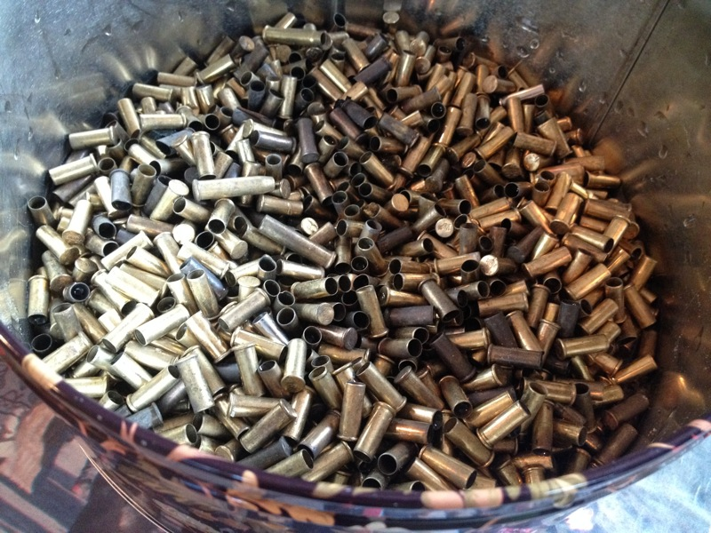 Collected from rifle ranges, these bullet shells just got cleaned...!