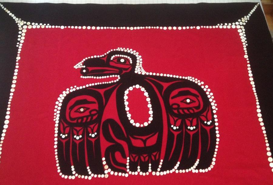 Raven Button robe is a collaboration of  designer Preston Singletary and sewer Clarissa Rizal