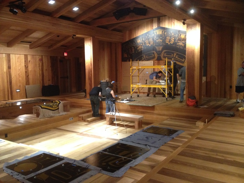 "The ""clan house"" inside of the new Sealaska Heritage Institute's ""Walter Soboleff"" Cultural Center"
