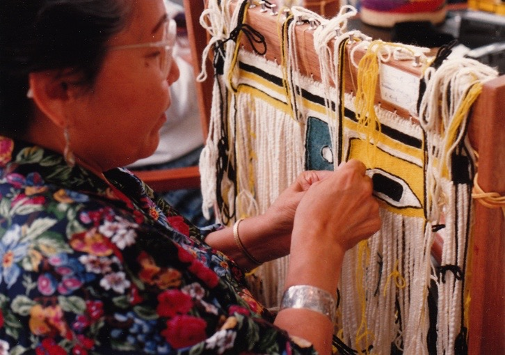 Louise Dangeli weaves Chilkat -- 1991