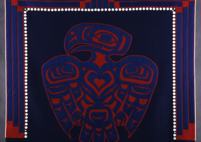 """Eagle Heart II"" Button blanket robe Private Collection Portland, OR ©2006 Clarissa Rizal"