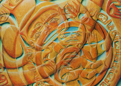 """Emergence"" Acrylic on canvas Private Collection Anchorage, AK ©2003 Clarissa Rizal"