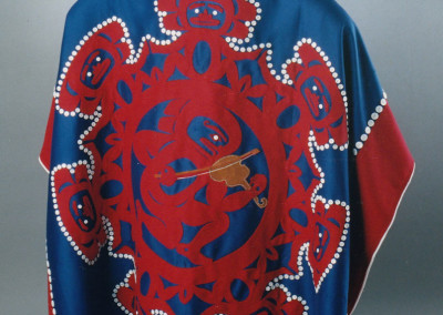 """Athapascan Fiddler Festival"" Button blanket robe Collection of Doyon, Inc. Fairbanks, AK © 2004 Clarissa Rizal"