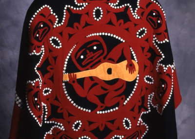 """Spirit of Music"" Button blanket robe Collection of Smithsonian Institute, DC ©1994 Clarissa Rizal"