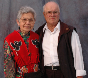 Clarissa's mother and father, William and Irene Lampe - 2004 - photo by Pizzarelli & Rizal