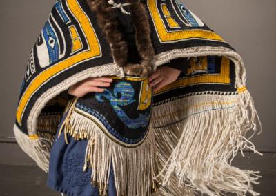 """Chilkat Child"" 5-piece Chilkat weaving ensemble ©2015 Clarissa Rizal"