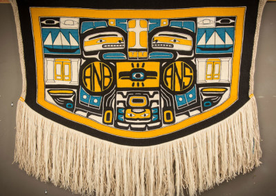 """""""Resilience"""" Chilkat weaving robe, Collection of Portland Art Museum, Portland, OR  ©2014 Clarissa Rizal"""