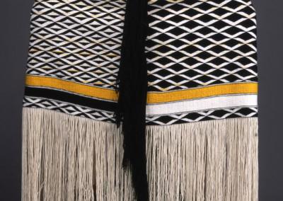 """Copper Man"" Ravenstail and Chilkat weaving ensemble back ©2006 Clarissa Rizal"