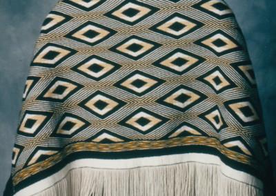 """The Diamonds"" Ravenstail weaving robe, Private Collection, Juneau, AK ©1998 Clarissa Rizal"