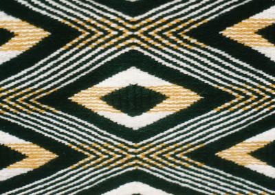 "Detail of ""The Diamonds"" Ravenstail weaving Robe©1998 Clarissa Rizal"