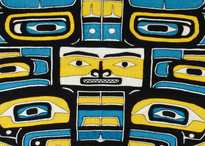 """""""Diving Whale Lovebirds"""" Chilkat weaving Close-up ©2013 Clarissa Rizal"""