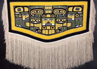 """""""Raven Hauberg"""" Chilkat weaving robe, Private Collection, Seattle, WA ©2001 Clarissa Rizal"""