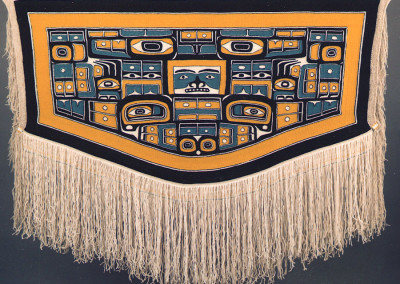 """""""Sea Grizzly"""" Chilkat weaving robe, Private Collection Vancouver, B.C. ©2000 Clarissa Rizal"""